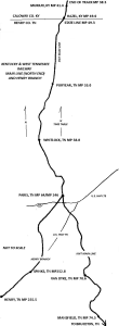KWT Main Line North Map